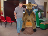 MORIE THE MOOSE,  AT THE PARK VISITOR'S CENTER LOVED DON-THERE ARE OVER 150,000 OF MORIE'S BUDDIES ON THE ISLAND OF NEWFOUNDLAND