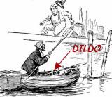 LOCATION OF A DILDO ON A DORY