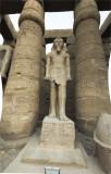 Rameses statue before