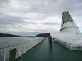 Chilly Morning on Top Deck of Ferry