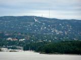 First Look at Holmenkollen Ski Jump on Hillside