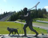 King Olav (1957-1991) Statue at Holmekollen