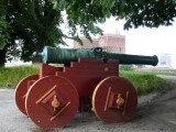 City Hall behind Akershus Cannon