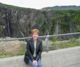 Susan at Voringsfoss