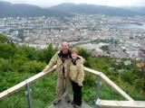 Overlooking Bergen from Mt Floien