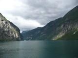 Entering Geiranger Fjord