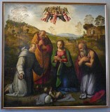 The Adoration with Saints Francis & Jerome (Ridolfo Ghirlandaio 1483-1561)