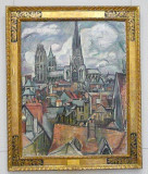 Roofs and Cathedral in Rouen (Othon Friesz 1908)
