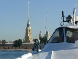 View of St Peter & Paul Spire from Hydrofoil