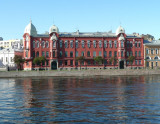 Building on Neva River