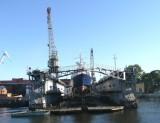 Boatworks on Neva River