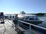 Susan with Hydrofoil at Peterhof Dock