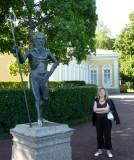 Neptune Statue & Antonina (St Petersburg Guide) at Seafront Terrace