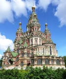 Sts Peter & Paul Cathedral (1895-1904) in Town of Peterhof