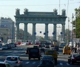 Moscow Triumphal Gates (1834-38) on Highway to Moscow