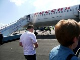 Boarding Pulko Airlines Flight for Moscow