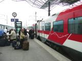 Boarding Sibelius Train for St Petersburg