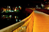 YARKON RIVER AT NIGHT