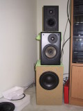I'm running the top speaker high pass, and bass to the bottom cabinet.