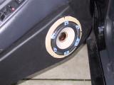 Rainbow mounted in Peter's car's driver door.