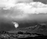 -WOW-  (Black and White)    On the road to Death Valley Junction  February 2007
