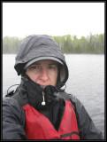 Self portrait in the cold rain ©  Liz Stanley
