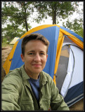 Liz camping at Petenwell County Park ©  Liz Stanley