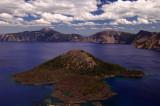 Wizard Island and Mount Scott