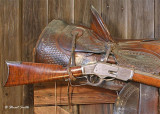 Rcvr n saddle 0093  of  Winchester 1 of 1000 rifle