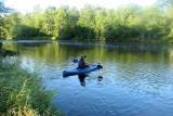 Kayaking on a summer morning