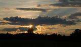 No fireworks but a beautiful sunset