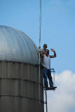 Jeff & Greg working on top of the silo