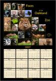 Oakland Zoo Calendar