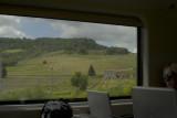 Italian countryside from train