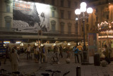 Square in Florence at night