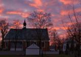 Christmas Sunset At St. Jacob's Church