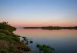 Pink Dusk Over Wisla River
