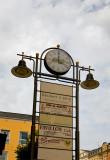 Clock Between Lamps