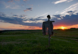 Sunset With A Scarecrow
