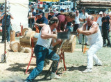 The big race- hand saw against a chainsaw