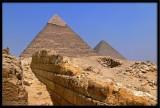 walk to famous Pyramids