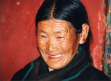 Mother of monk at Drepung