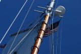 Main Mast, Main Gaff & Flags