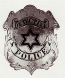 antique police badge series 1