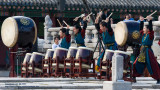 Drummers in action