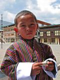 On the street in Paro, I met this child.