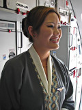 Lovely attendant on Druk Air