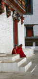 Dzong with 2 Young Monks