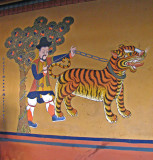 Wall painting inside the Paro Dzong