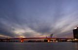 bridge and the sunset